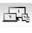 Media news concept vector image