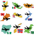 fly me to the Madagaskar Mexico Mongolia Morocco N vector image vector image