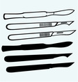 Medical scalpels vector image