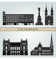 Linz landmarks and monuments vector image vector image