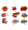Set of pop art style phrases vector image vector image