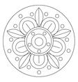 Coloring Big Flower Mandala vector image