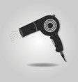 Abstract blow dryer icon with dropped shadow vector image
