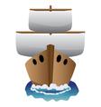 Abstract cartoon boat vector image