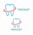dental logo design Dental clinic logo vector image