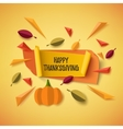 Happy Thanksgiving banner vector image