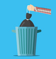 huge waste trash can vector image
