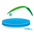 icon wave drop vector image