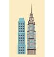 modern building architectural structure futurist vector image