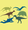 set of dinosaurs vector image