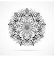 Black Color Mandala over white vector image