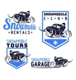 snowmobile logo vector image