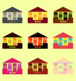 architecture greek building doric temple icons vector image