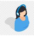 female consultant isometric icon vector image