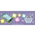 Mobile Application Shop Flat Design vector image vector image