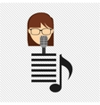 Singer isolated design vector image