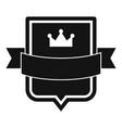 badge emperor icon simple black style vector image