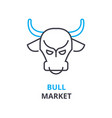 bull market concept outline icon linear sign vector image