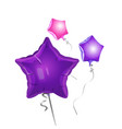 bunch of star shape balloons vector image