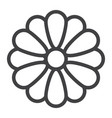 flower line icon web and mobile wallpaper sign vector image