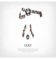 people sports golf vector image