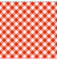 red and white seamless checkered tablecloth vector image