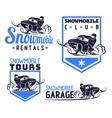 snowmobile logo vector image