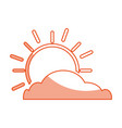 summer sun with cloud scene vector image