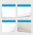 Paper diary on transparent background collection vector image vector image