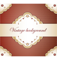 Vintage red background vector image