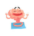 relaxed humanized cartoon brain character vector image