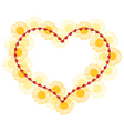 heart form vector image