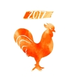 2017 - Chinese Year of the Rooster rooster vector image