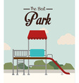 Park design over landscape background vector image