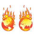 world on fire vector image
