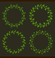 Circle frames from green leaves set vector image