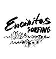 Encinitas Surfing Lettering brush ink sketch vector image