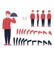 italian chef animation set vector image