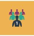 Leadership flat icon vector image