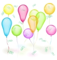 Set of balloons on white vector image