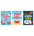 summer sale emails and banners mobile templates vector image