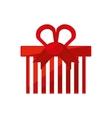 Christmas gift isolated icon vector image