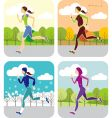 jogging all the year round vector image