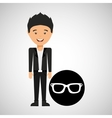 young boy fathers day celebration sunglasses vector image
