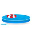 icon wave lifebuoy vector image vector image
