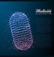 medicine pill vector image vector image