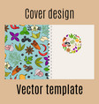 cover design with spices pattern vector image