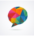 Polygonal geometric 3D speech bubble vector image