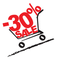 Big sale 30 percentage discount 2 vector image