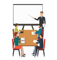 business presentation for group of people vector image
